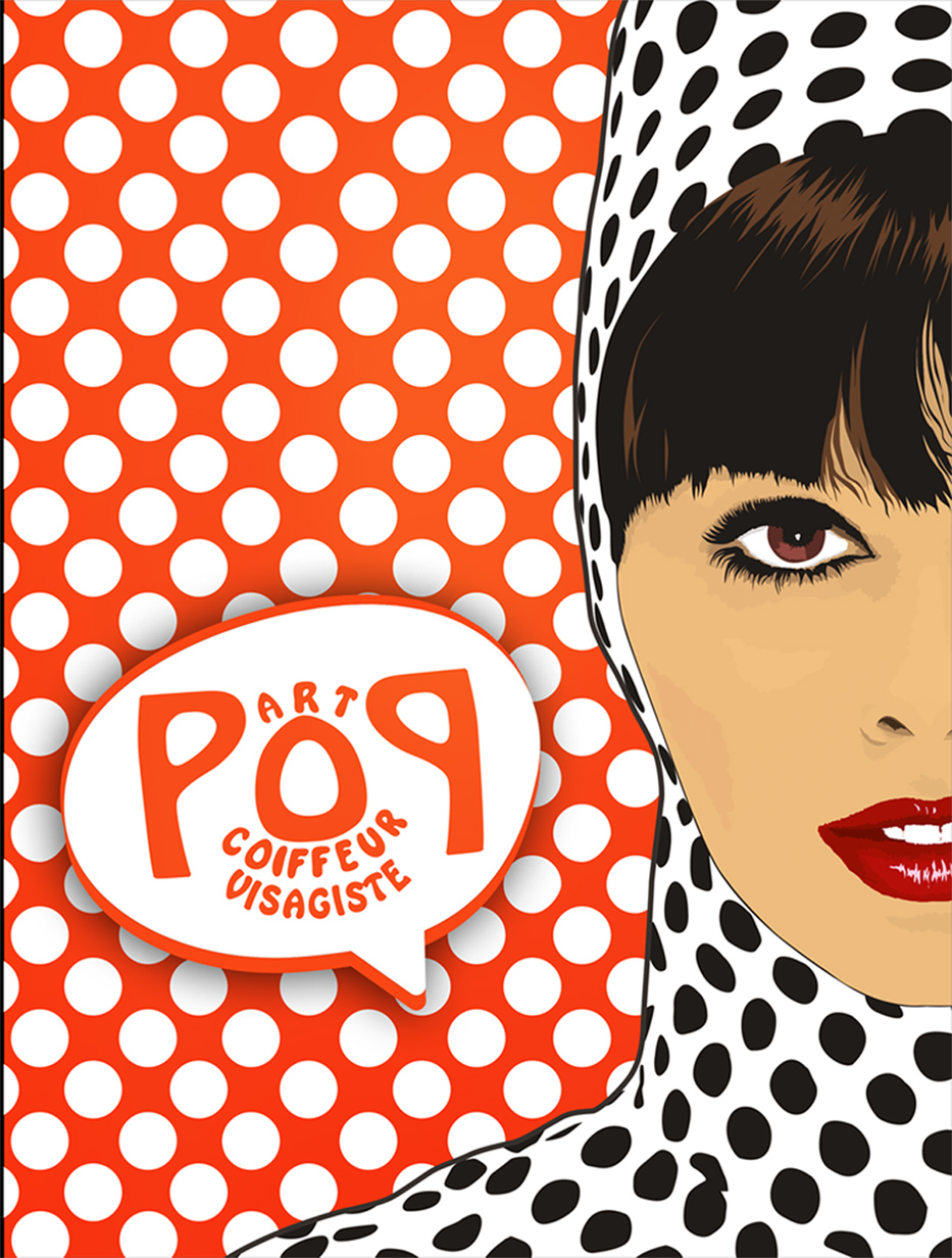 illustration art pop coiffeur visagiste